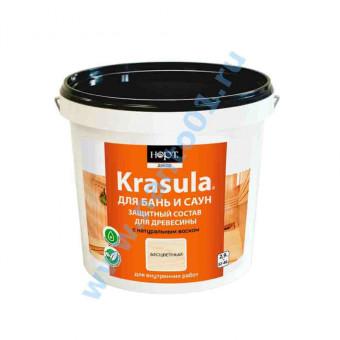 Защитно-декоративный состав «KRASULA (красула) для бань и саун» в наличии по цене завода в Москве по цене завода.